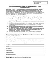"""Ohio Protocol Sexual Assault Forensic and Medical Examination 5th Edition Protocol Coordinator"" - Ohio"