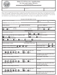 "Form GEN-4268 ""Ohio Civil Service Application"" - Ohio"