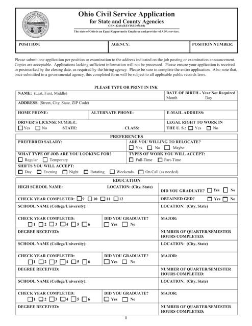 Form GEN-4268  Printable Pdf