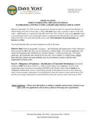 "Appendix B ""Fundraising Contract - Veteran, Fraternal, Sporting-Organizations"" - Ohio"