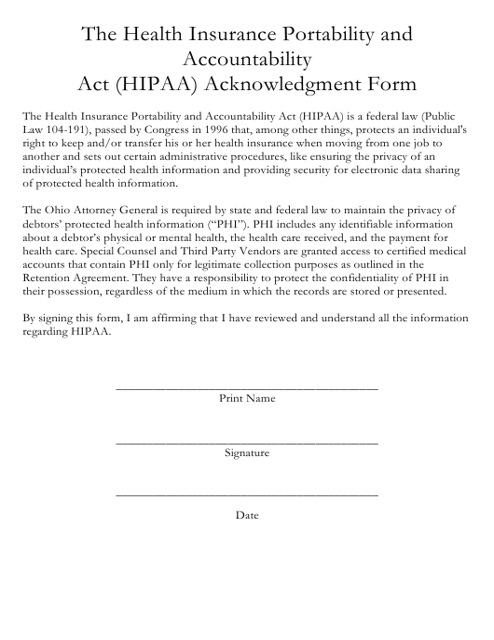 The Health Insurance Portability and Accountability Act (Hipaa