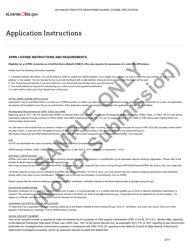 """Advanced Practice Registered Nurse License Application"" - Ohio"