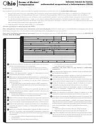 "Formulario FROI-1 (BWC-1101) ""Informe Inicial De Lesion, Enfermedad Ocupacional O Fallecimiento"" - Ohio (Spanish)"