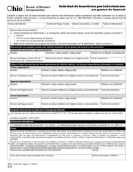 Form C-5 Formulario Bwc-1108 - Solicitud De Beneficios Por Fallecimiento Y/O Gastos De Funeral - Ohio