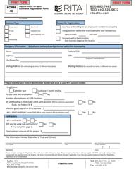 "Form 48 ""Business Registration Form"" - Ohio"