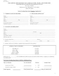 "Form AEMS010 ""Swine Feeding Operation Transfer Application"" - Oklahoma"