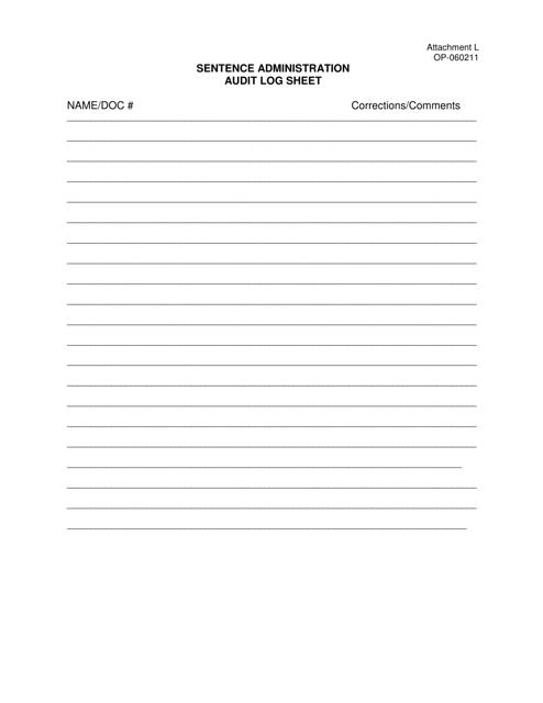 DOC Form OP-060211 Attachment L  Printable Pdf