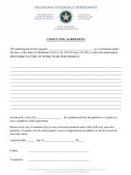 """""""Consulting Agreement Form"""" - Oklahoma"""