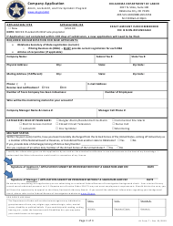 "Form 7 ""Company Application"" - Oklahoma"