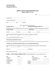 """Application for Bond Release"" - Oklahoma"