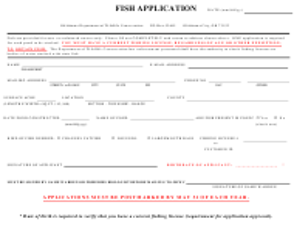 """Fish Application"" - Oklahoma"