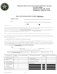 "OBLADC Form 209 ""Practicum/Training Form (300 Hours)"" - Oklahoma"