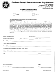 "OBLADC Form 217 ""Direct Observation Form (For Home Based Services)"" - Oklahoma"