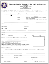 "OBLADC Form 213 ""Ladc/Mh Application Form"" - Oklahoma"