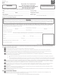 OTC Form 769 Vehicle Information Request - Oklahoma