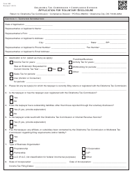 Form 892 Application for Voluntary Disclosure - Oklahoma
