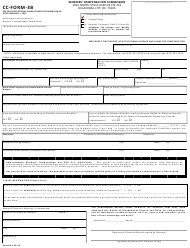 "CC- Form 3B ""Employee's First Notice of Occupational Disease and Claim for Compensation"" - Oklahoma"