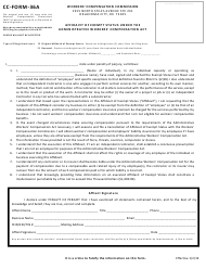 "CC- Form 36A ""Affidavit of Exempt Status Under the Administrative Workers' Compensation Act"" - Oklahoma"