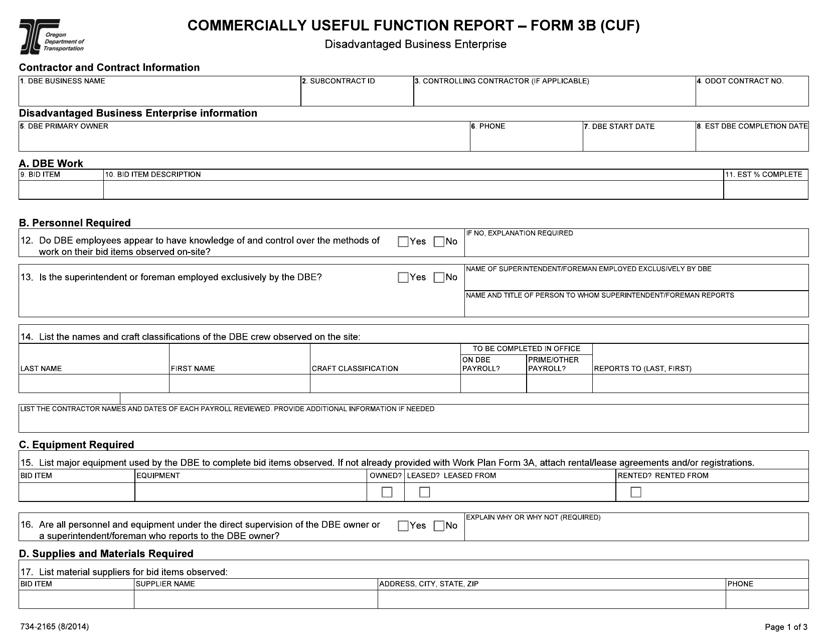 Form 3B (734-2165)  Printable Pdf