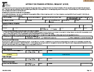 """Form 734-2878 """"Apprentice/Trainee Approval Request (Atar)"""" - Oregon"""