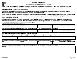 "Form 734-5008 ""Discrimination Complaint Form"" - Oregon"