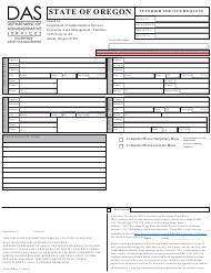 "Form 125618 ""Interior Service Request"" - Oregon"