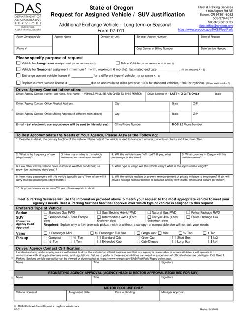 Form 07-011  Printable Pdf