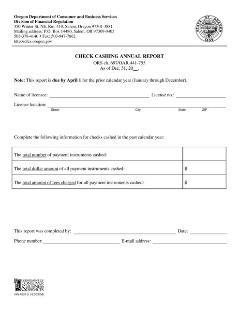 Form 440-4803  Printable Pdf