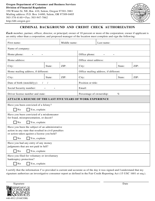 Form 440-4912  Printable Pdf