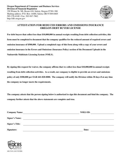 Form 440-5343  Printable Pdf