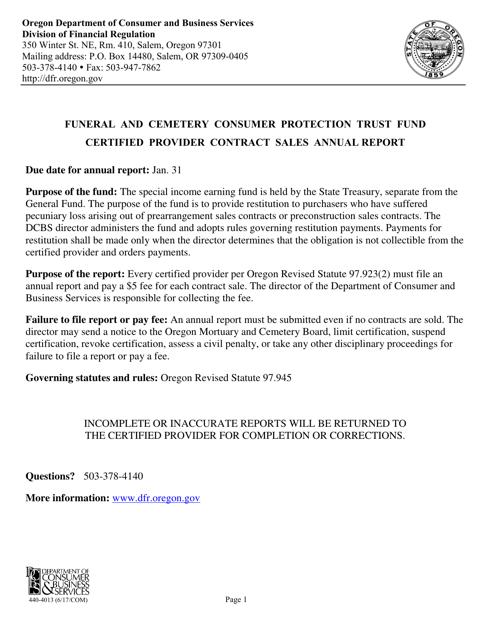Form 440-4013  Printable Pdf