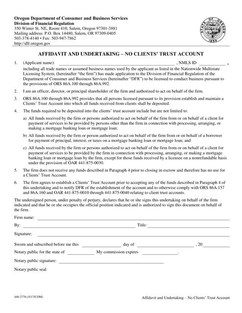 Form 440-2776  Printable Pdf