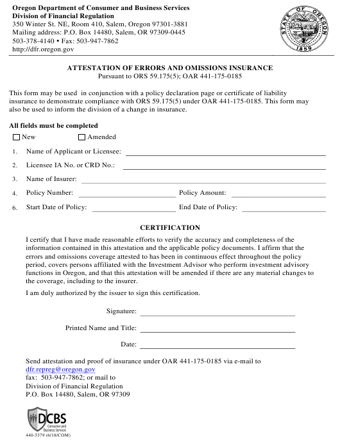 Form 440-5379  Printable Pdf