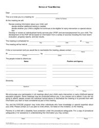 "Form 581-1406 ""Notice of Team Meeting"" - Oregon"
