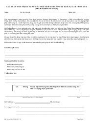 """Form 581-5150D-X """"Medical Condition Statement for Early Intervention Eligibility (Birth to Age 3)"""" - Oregon (Vietnamese)"""