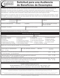 """Formulario 2602 """"Solicitud Para Una Audiencia De Beneficios De Desempleo"""" - Oregon (Spanish)"""