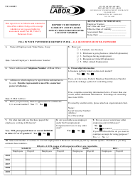 "Form UC-1 ""Report to Determine Liability and if Liable Application for Employer Account Number"" - Delaware"