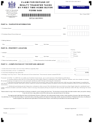 "Form 5405 ""Claim for Refund of Realty Transfer Taxes by First Time Home Buyer"" - Delaware"
