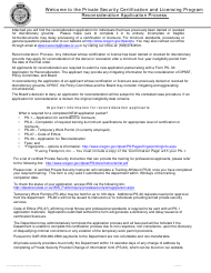 """Form PS-30 """"Application for Reconsideration"""" - Oregon"""