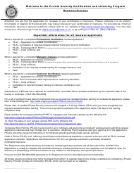 "Form PS-21 ""Application for Certification or Licensure"" - Oregon"
