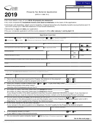 Form 150-490-014 2019 Property for Ors Tax Deferral Application - Oregon