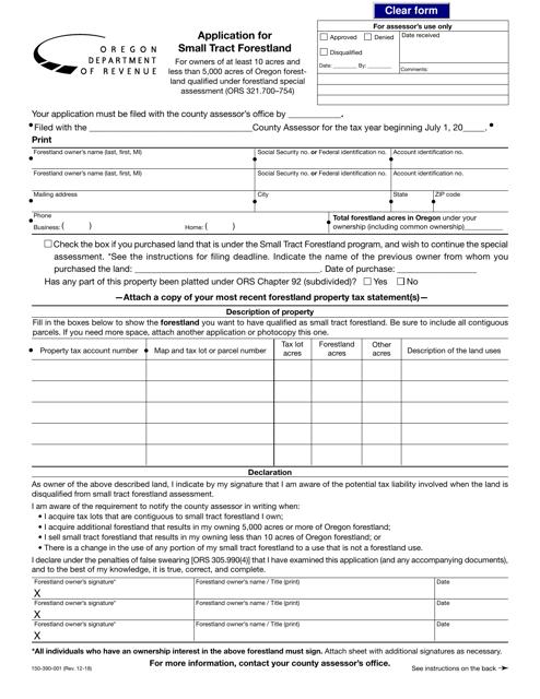 Form 150-390-001 Printable Pdf