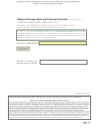 FinCEN Form 114 Report of Foreign Bank and Financial Accounts