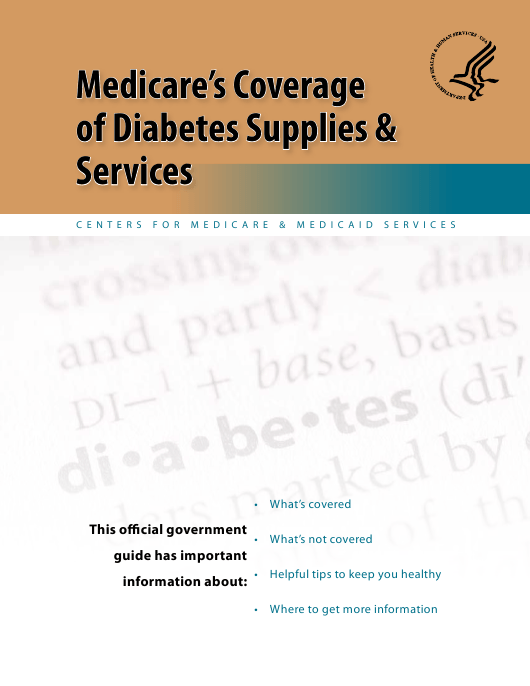 """""""Medicare's Coverage of Diabetes Supplies & Services"""" Download Pdf"""