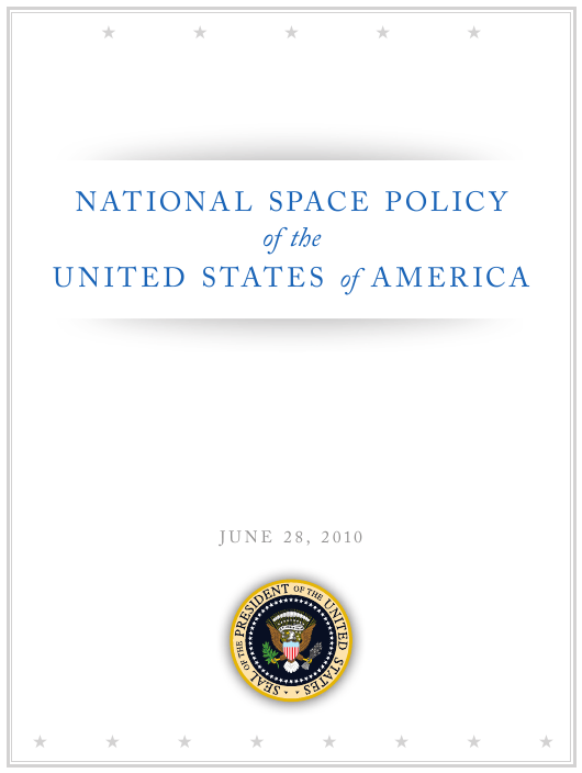 """""""National Space Policy of the United States of America"""" Download Pdf"""