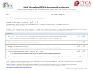 "Form TCB-01 ""Adult Tuberculosis (Tb) Risk Assessment Questionnaire"" - California"