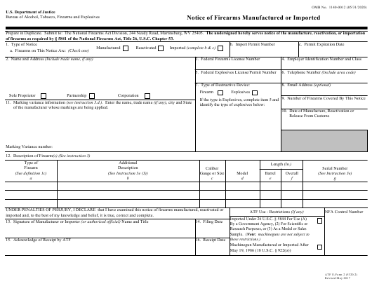 ATF Form 5320.2 (2)  Printable Pdf