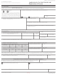 ATF Form 5320.4 Atf Form 4 - Application for Tax Paid Transfer and Registration of Firearm