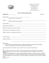 "Form C ""Insurance Endorsement"" - Delaware"