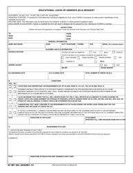 """AF IMT Form 204 """"Educational Leave of Absence (Ela) Request"""""""